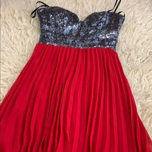 B Darlin Dresses - Red sequin dress size small